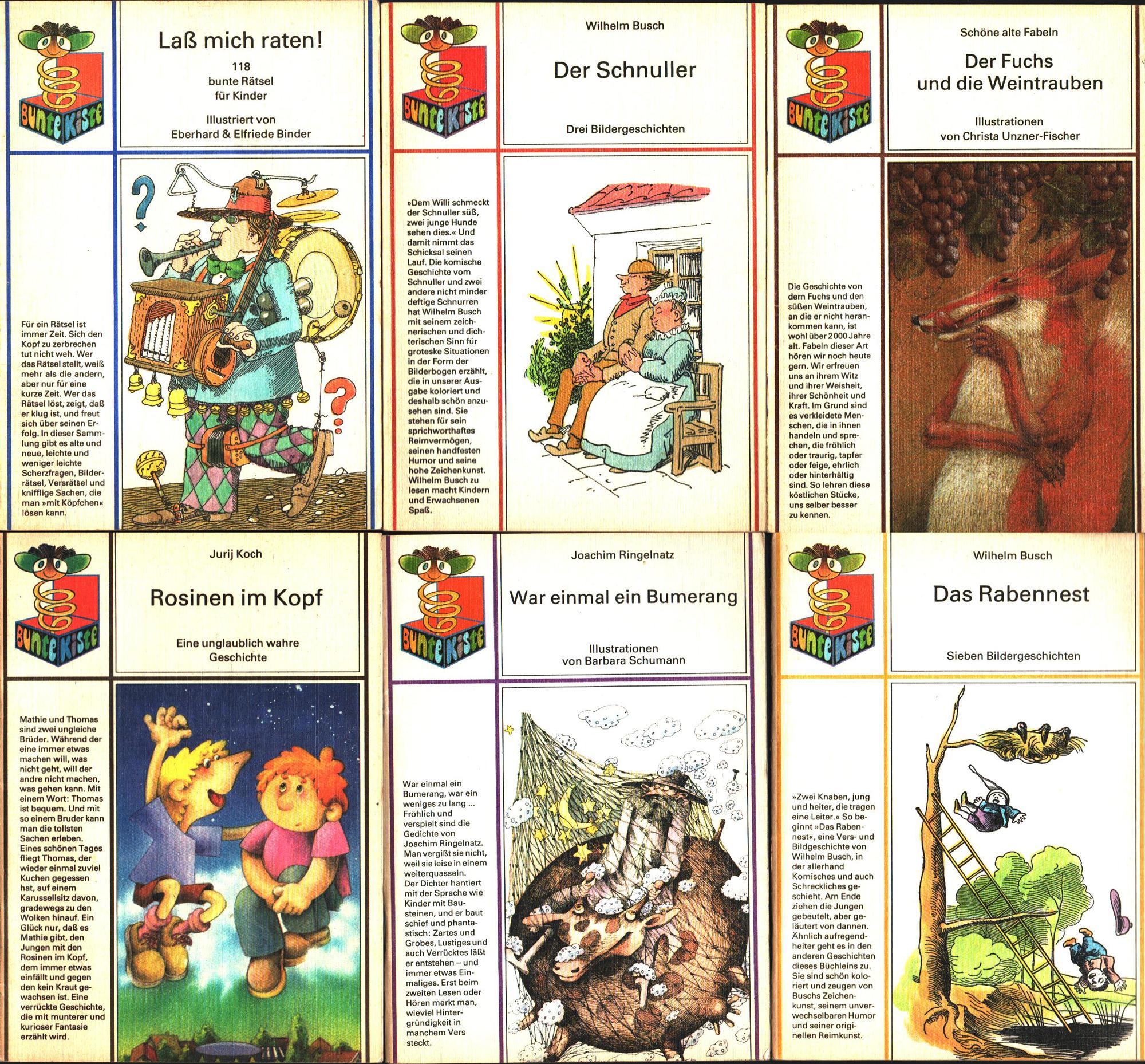 6x Ddr Kinderbücher Bunte Kiste Ostalgie Fund Kiste Antik