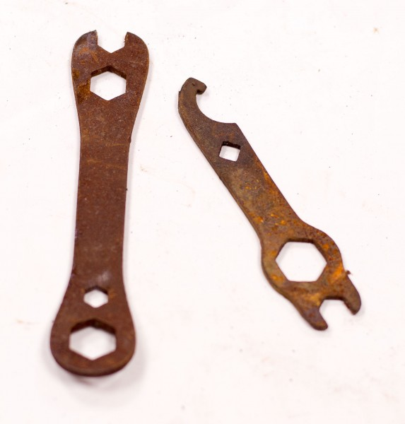 2x Oldtimer Fahrrad Moped Schlüssel Werkzeug -Set - 2