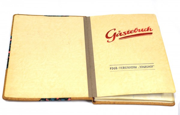 Einzigartiges Gästebuch FDGB FERIENHEIM JONASHOF JONSDORF 1983 / 84 Unikat