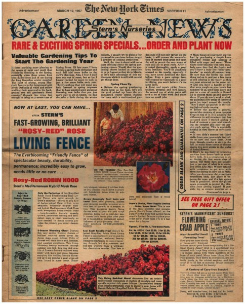 The New York Times | Garden News 12 März 1967