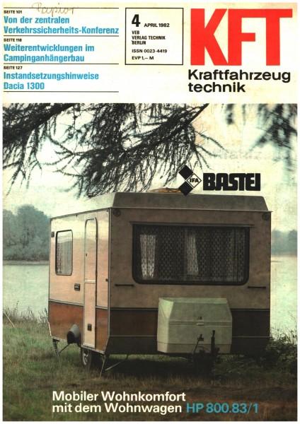 DDR KFT 04 /1982 Mobiler Wohnkomfort mit dem Wohnwagen