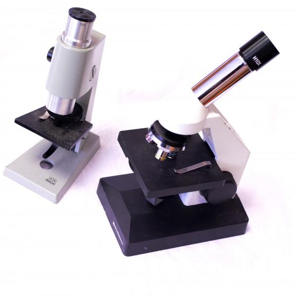2 defekte Mikroskope ROW und Eschenbach
