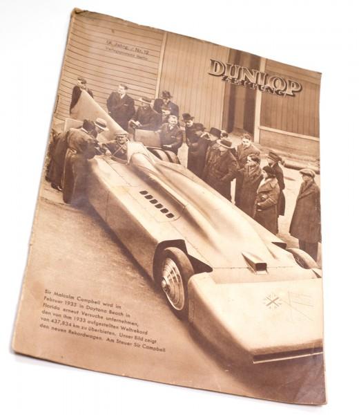 Dunlop Zeitung. IX. Jahrgang, Nummer 12 von 1935 | SELTEN | Dunlop Reifen