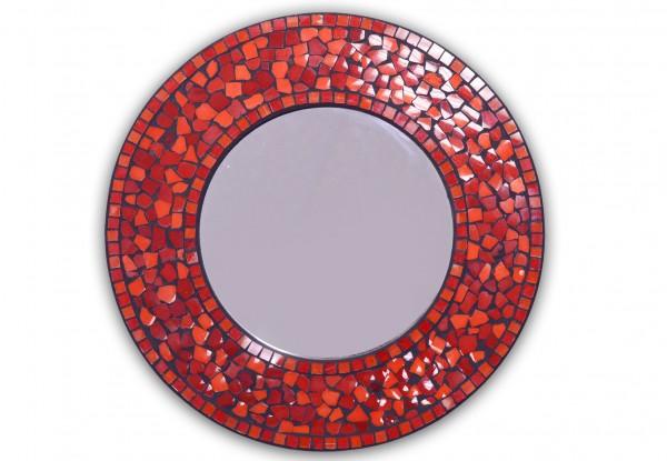 Runder Mosaik Spiegel Ø 35,0cm Handarbeit
