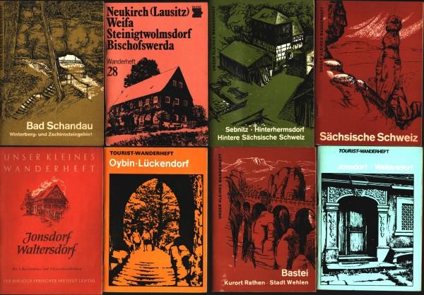 Konvolut 8x DDR Wanderheftchen VEB Brockhaus 60iger Jahre
