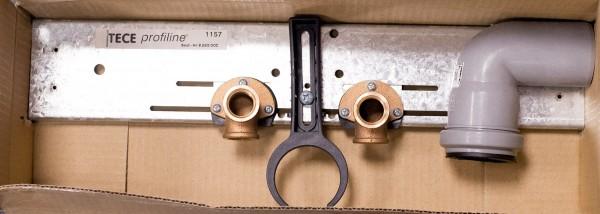TECE profiline TC Montagetraverse mit Wandscheiben für Waschtisch Nr. 9.580.002