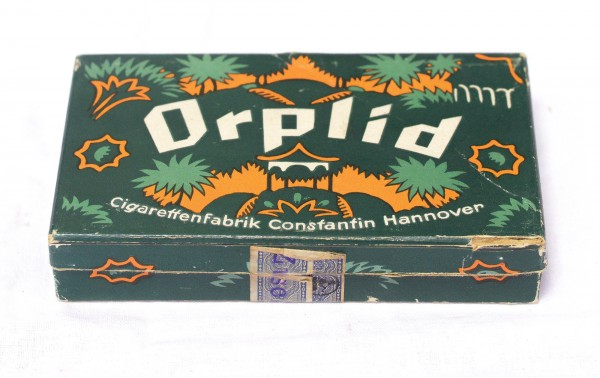 alte Zigarettenschachtel ORPLID No.40 Zigarettenfabrik Constantin Hannover
