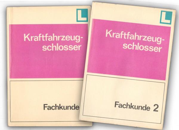 Fachkunde Kraftfahrzeugschlosser 1+2 DDR 1977