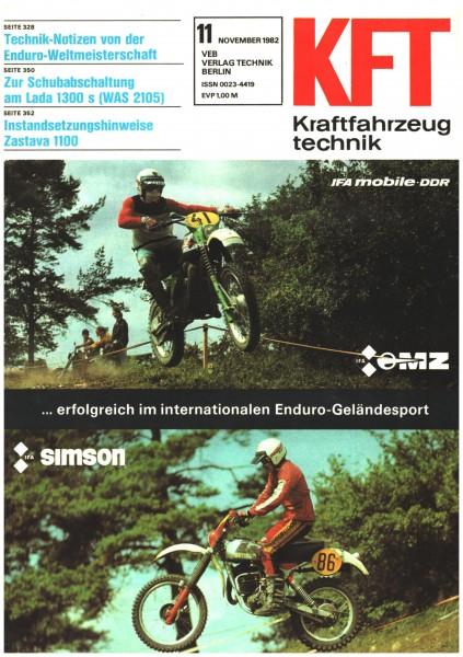 DDR KFT 11 /1982 Kraftfahrzeugtechnik