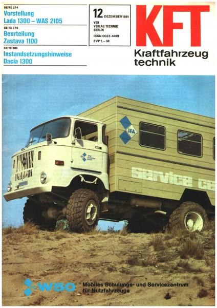 DDR KFT 12 /1981 Kraftfahrzeugtechnik W50 Mobiles Schulungs- & Servicecentrum