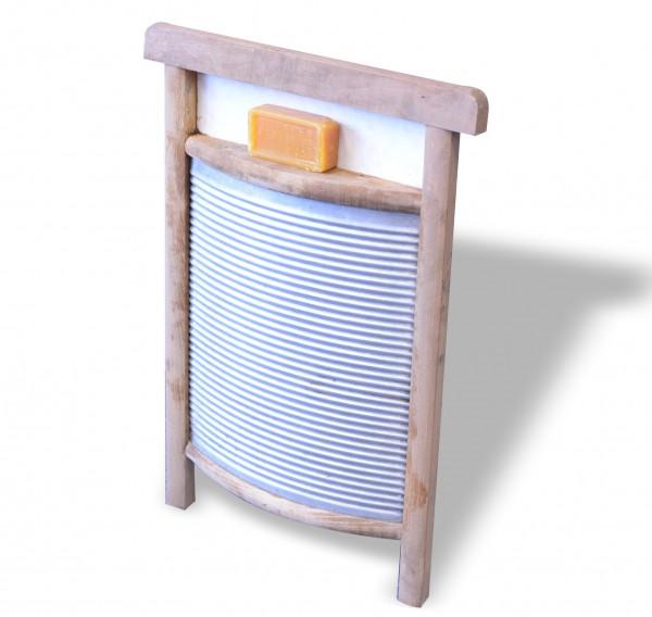 Waschbrett Holz-Blech mit Kernseife
