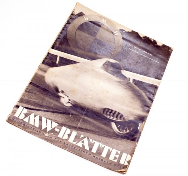 BMW Blätter Heft 27 | November 1936 | Rarität | sehr selten | geringe Auflage