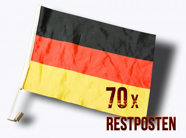 70 Stück Stück Fußball Auto Fahnen Deutschland Klemmfahne REPO