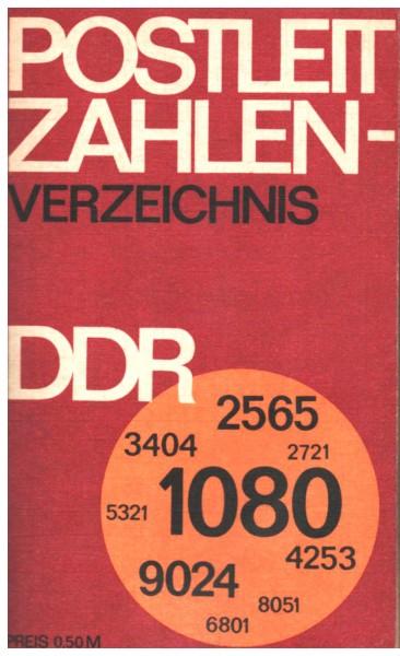 Postleitzahlenverzeichnis DDR PLZ Buch 1977