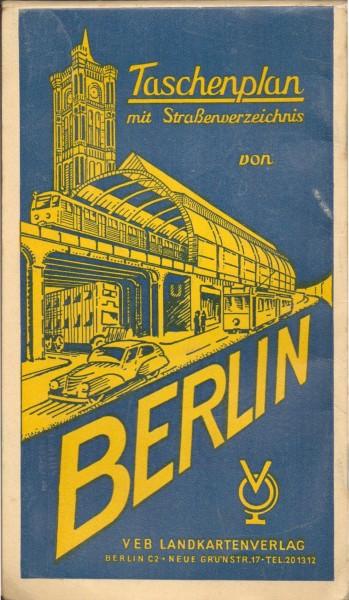 Taschenplan mit Straßenverzeichnis von Berlin 1957