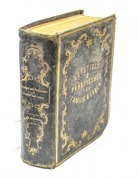 Geistiges und Praktisches für Familie und Leben | um 1850 | Goldschnitt