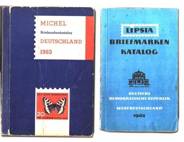 Michel Briefmarken-Katalog 1963 Deutschland & Lipsia 1963 DDR + BRD