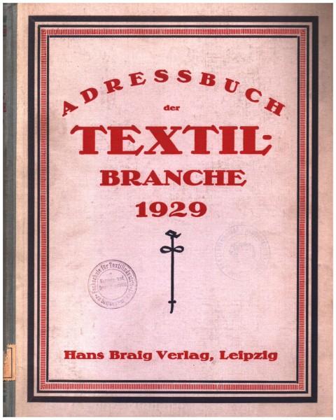 Adressbuch der Textil-Branche 1929 | extrem selten | Rarität