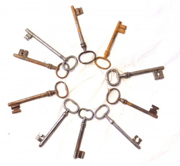 antike Schlüssel Konvolut Türschlüssel Schlüssel Haustür antik 10 Stk.