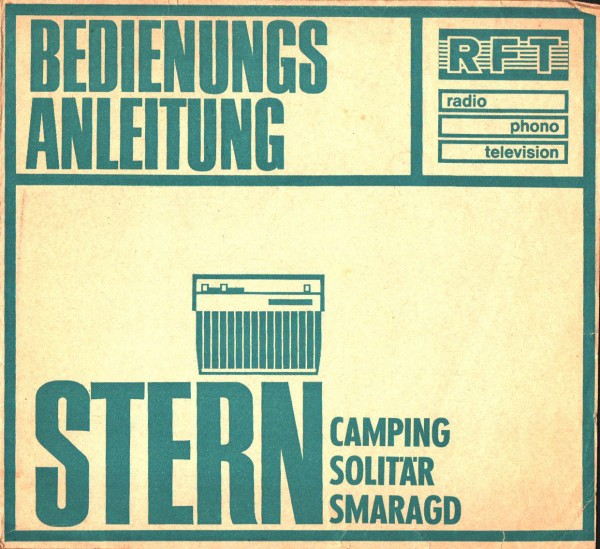Bedienungsanleitung Stern Radio Camping Solitär Smaragd RFT