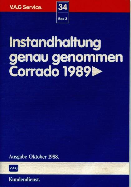 Instandhaltung genau genommen Corrado 1989 VAG Ausgabe 1988
