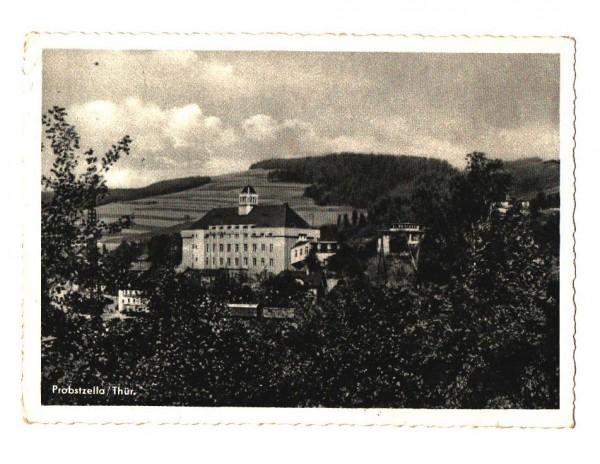 AK Postkarte Probstzella in Thüringen, Teilansicht vom Ort, FDGB Erholungsheim Einheit