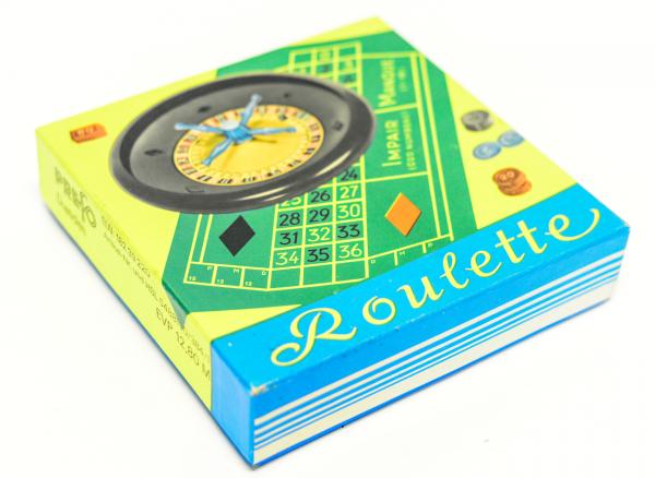 Roulette Roulettespiel Spiel DDR mit Originalkarton Prefo Dresden T149