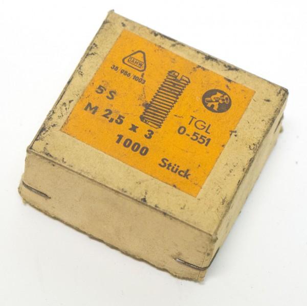 Madenschrauben M 2,5 x 3 1000 Stk.