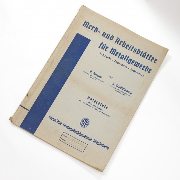 Merk- und Arbeitsblätter für Metallgewerbe. Fachkunde, Fachrechnen, Fachzeichnen. Mittelstufe. 137.-