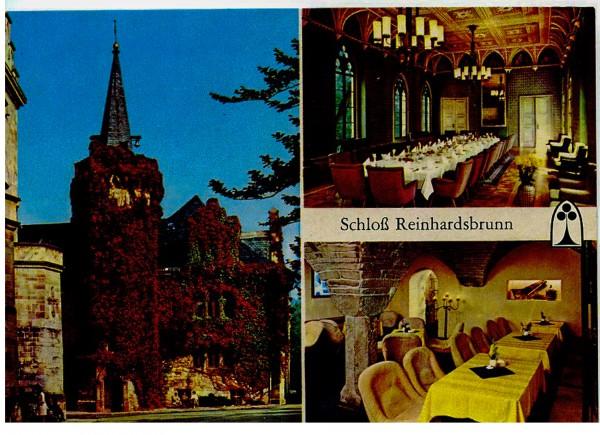 Ansichtskarte DDR Schloß Reinhardsbrunn