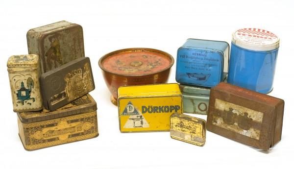 Blechdosen-Set Diverse Dosen