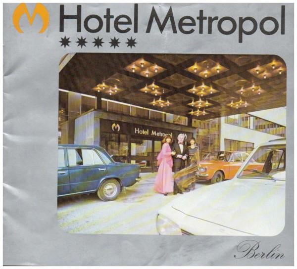 Image Broschüre DDR Hotel METROPOL Berlin 70er Jahre