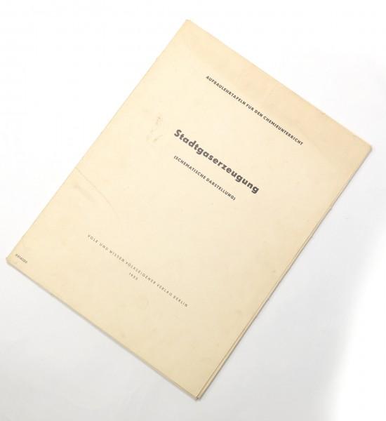Stadtgaserzeugung (Schematische Darstellung) Sondereinband – 1955