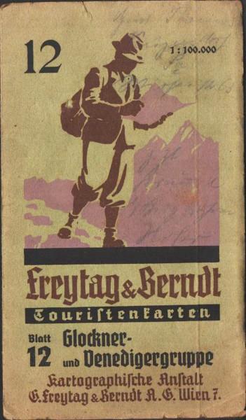 Glockner- und Venediggruppe. Freytag & Berndt Touristenkarten Blatt 12: 1: 100.000 1937