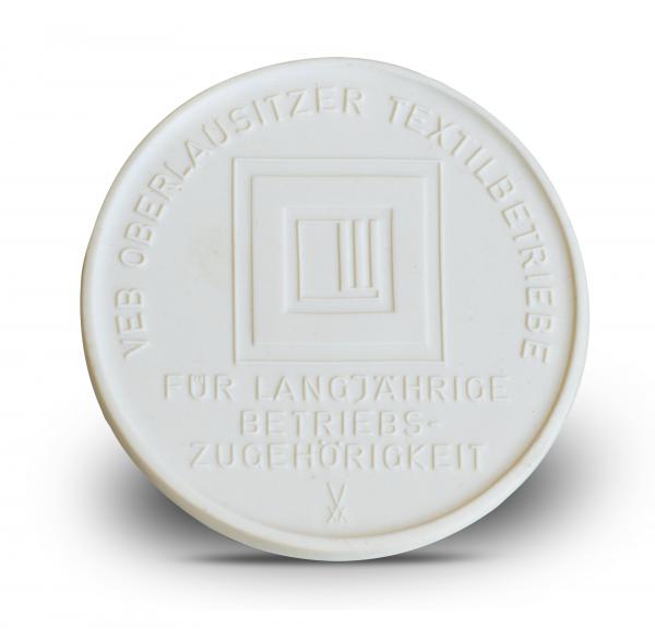 Medaille DDR aus Meissener Porzellan Lautex