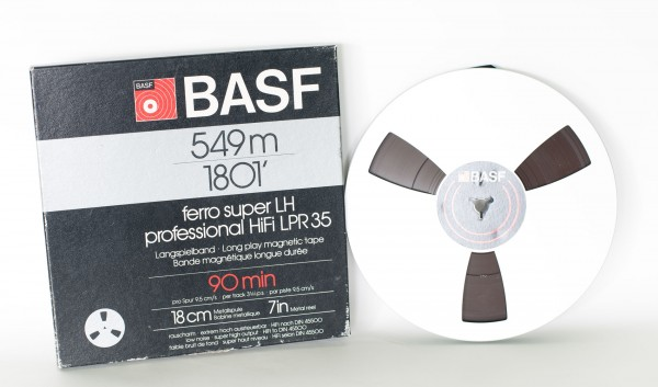 Langspielband BASF 549m 1801' ferro super LH HiFi LPR 35