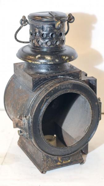 SIGNAL-(Mast-)LATERNE, Strom m. Keramikfassung E27, orig. 30er-40ger D.R.G.M.