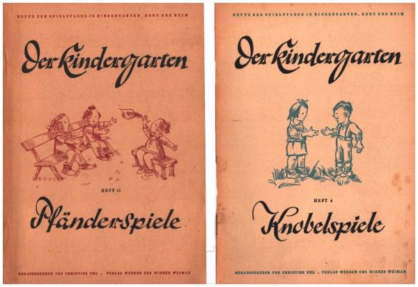 Der Kindergarten 1947   Pfänderspiele Hft. 11   Knobelspiele Hft. 4
