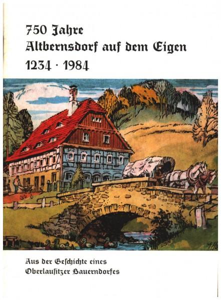 750 Jahre Altbernsdorf auf dem Eigen 1234 - 1984
