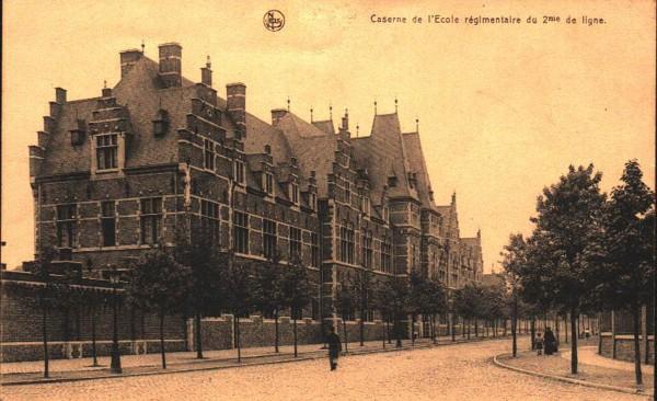 1918 Kaserne Courtrai - caserne de Ecole regimentaire du 2me de ligne - Belgien