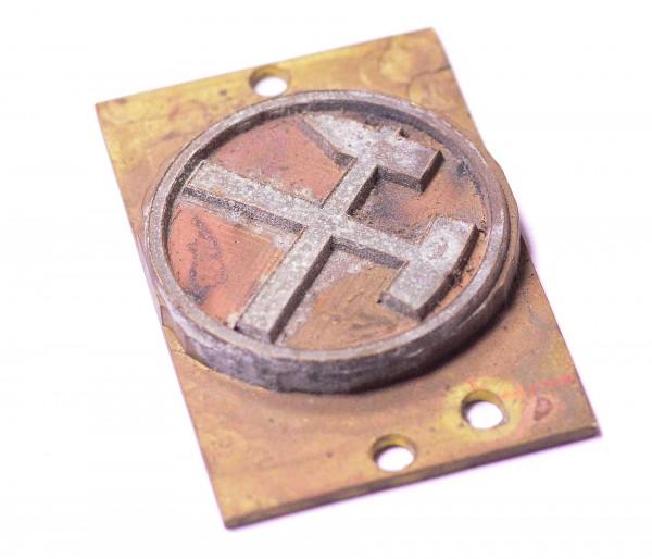 Prägestempel, Cliché, Symbol Bergbau Rarität Druckerplatte Selten