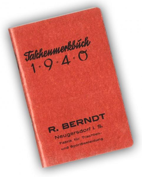 2 Kleine Taschenmerkbücher 1940 unbenutzt a. Lager | Kalender | Landkarten | div. Infos