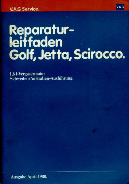 VW Golf 1 / Scirocco / Jetta - Reparaturleitfaden - 1,6L Vergasermotor